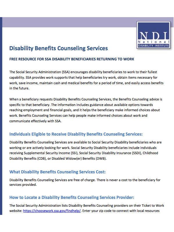 Resource | Disability Benefits Counseling Services | Jump$tart